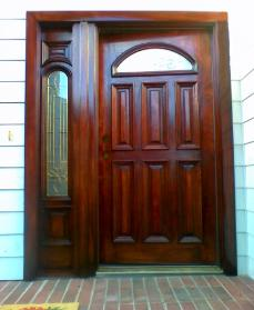 After Door Refinishing